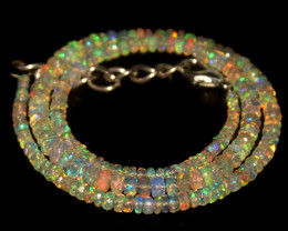 39.20 Crts Natural Welo Faceted Opal Beads Necklace 377