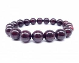 Natural Red Garnet Beads Bracelet 265.00 Carats 6 Inch