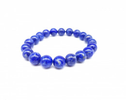 Natural Blue Lapis Lazuli 136 Carats Beads Bracelet 8mm