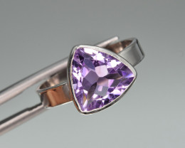 Natural Amethyst  and 925 Silver Ring