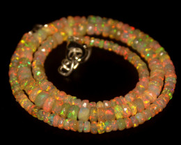45.25 Crts Natural Welo Faceted Opal Beads Necklace 410