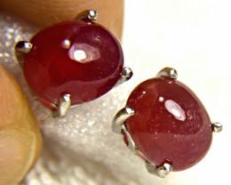 25.0 Tcw. Elegant Ruby Earrings - Gorgeous