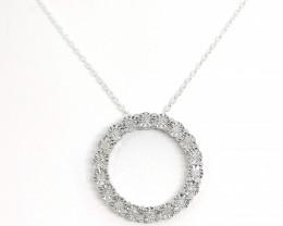 Diamond Circle Pendant 0.17tcw.