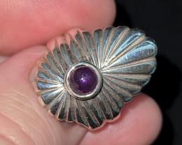 Amathyst Art Deco style ring