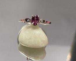 Natural Tourmaline 925 Silver Ring Size US (7) 651