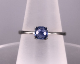 7.33 cts Natural Blue Sapphire Silver RIng  J : 36