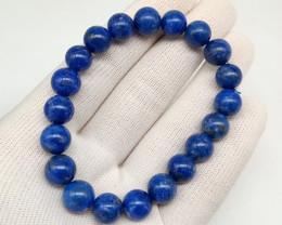 Natural Blue Lapis Lazuli Beads Stretch Bracelet