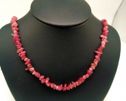 Natural Rough Pink Tourmaline Necklace