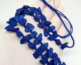 Natural A+++ Lapis Lazuli Madani Freeform Necklace