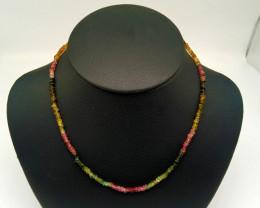 Matural Mix Tourmaline Polished Necklace