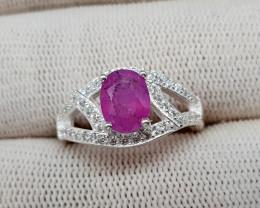 Natural Sapphire 19.10 Carats 925 Silver Ring