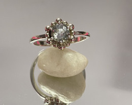 Natural Aquamarine 925 Silver Ring Size US (10) 642