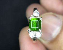 Natural Rare Dioptase Handmade Ring