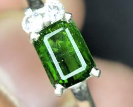 Natural Rare Dioptase Handmade Ring.
