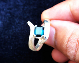 25.45 Ct Natural Blue Indicolite Tourmaline Gemstone Ring