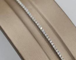 White Diamond tennis bracelet 1.11Ct ,18k White Gold 5.16 Gram s