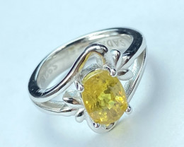 2.40ct.Yellow Sapphire Top Quality Gemstone. Silver925 Ring. DYS 201