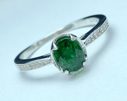 1.35ct Natural Tsavarite Garnet Beautifulist Silver 925 Ring.DTS 209