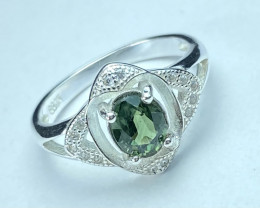 1.15ct.Blue Sapphire Top Quality Gemstone. Silver925 Ring.DBS 204