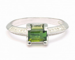 0.71ct Natural Tourmaline Amazing Silver925 Rings.DRL DTM 208