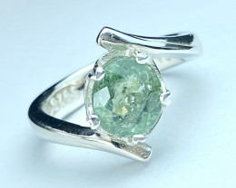 2.16ct. Magnificent Paraiba Tourmaline Heart Touching Silver925 Ring. DPT21