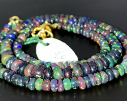 44 Crts Natural Welo Smoked Opal Beads Necklace 63