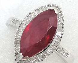 Ruby and Diamond Ring 3.80tcw.