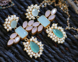 Unique and Custom Curated Hand Made Earrings  RT-62