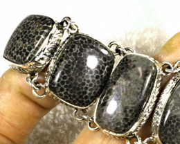 337.0 Tcw. Red Sea Fossil Coral Bracelet - Gorgeous