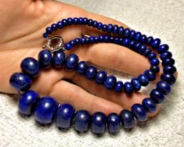 625.5 Tcw. Afghan Lapis Lazuli Graduated Necklace