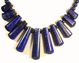 389.5 Tcw. Lapis Lazuli Fan Necklace - Gorgeous