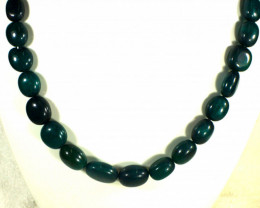 642.0 Tcw. Indian Deep Green Emerald Necklace - Gorgeous