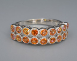 Coated Topaz  Silver Ring 16.57 Cts Unique Design