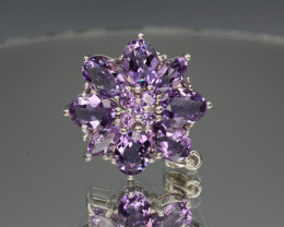 AAA Natural Amethyst 34.10 Cts Silver Pendant