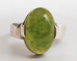Natural Green Grossular Garnet Ring 26.50 Carats