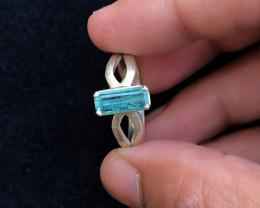 20.85 Ct Natural Blueish Transparent Tourmaline Gemstone Ring