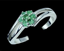 Gorgeous Emerald Gemstone.Silver925 Ring.DEM213