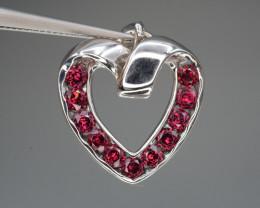 Natural Rhodolite Garnet Silver Pendant 18.94 Cts Beautiful Design