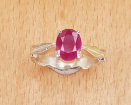 Beautiful Glass Filled Ruby Ring
