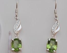 Natural peridot 925 Silver 925 Silver Earring