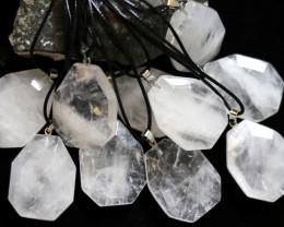 Wholesale 10 pcs Large Polyhedron Rock Crystal Pendants  AHA 723