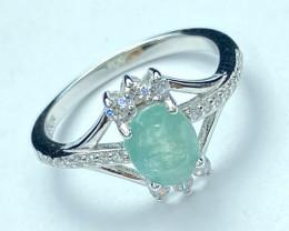 1.17ct Attractive Grandidierite World Rarest Gemstone. Silver925Ring.DGD217