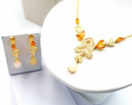 Natural Opal And Citrine Set