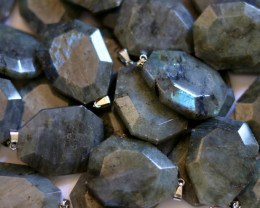 Wholesale 10 pcs Large Polyhedron Labradorite Pendants  AHA 730