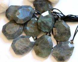 Wholesale 10 pcs Large Polyhedron Labradorite Pendants  AHA 731