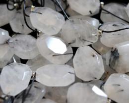 Wholesale 10 pcs Large Polyhedron Tourmaline Rock Crystal Pendants  AHA 741