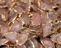 Wholesale 10 pcs Large Rose Quartz arrow Pendants  AHA 754