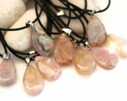 Wholesale 10 pcs Tear Drop Crystal Agate Pendants AHA 765