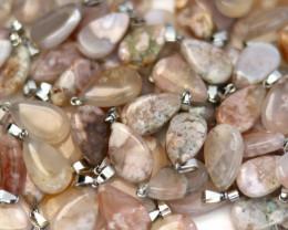 Wholesale 10 pcs Tear Drop Crystal Agate Pendants AHA 766