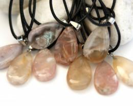 Wholesale 10 pcs Tear Drop Crystal Agate Pendants AHA 767